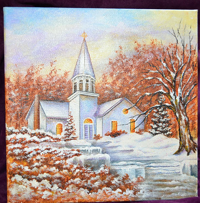 Glitter Church Painting
