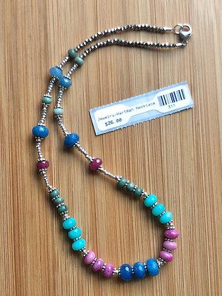 """Multi-colored Stone Necklace 18"""""""