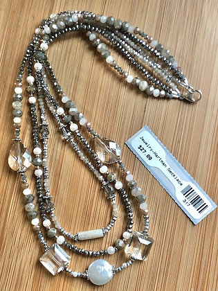 3-Layer Freshwater Pearl Necklace
