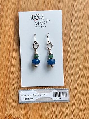 Blue & Green Beaded Earrings
