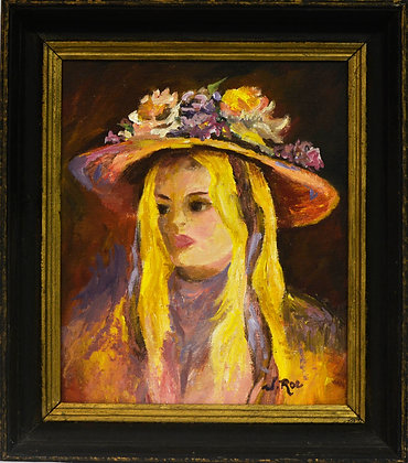 Girl in Hat - Painting