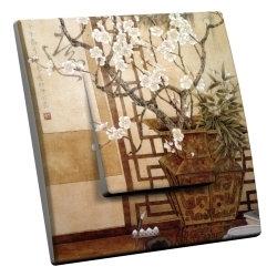 intérrupteur Décoratif Modèle Cerisier Blanc
