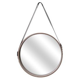 Miroir rond bois Avec Anse
