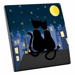 intérrupteur Décoratif Modèle Amour de Chats