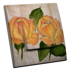 intérrupteur Décoratif Modèle Roses jaunes