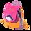 Thumbnail: Sac à Dos Tchiki L'Oiseau Bateau Modèle Violette