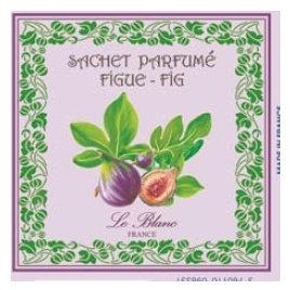 3 Sachets Parfumés Figue Leblanc-France