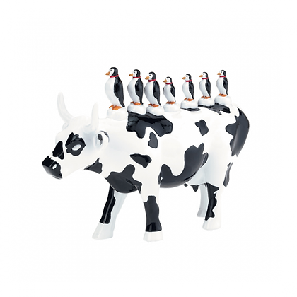 Vache Cow Parade Moyen Modèle Transporte Coletivo