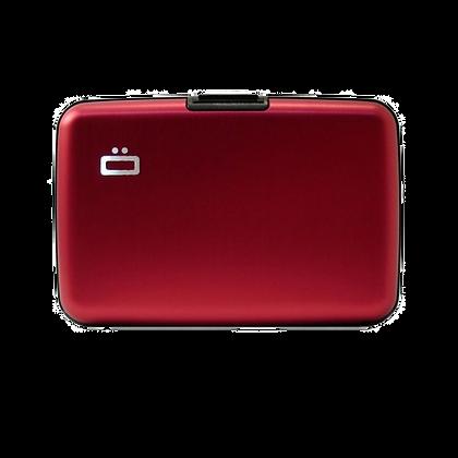 Porte Cartes Ogon Design Gamme Aluminium Classique Rouge