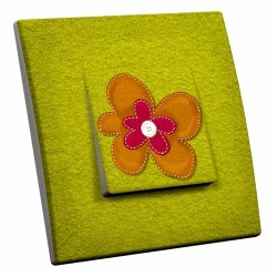 intérrupteur Décoratif Modèle Fleur de Tissu