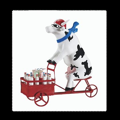 Vache Cow Parade Moyen Modèle Lait Triporteur