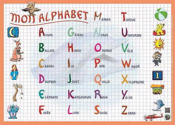 Set de Table et Sous-Mains Educatif  Modèle Alphabet