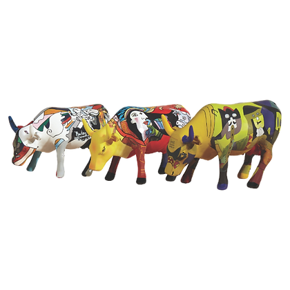 Vache Cow Parade Petit Modèle Artpack - Pi-COW-sso 3 minis Vaches