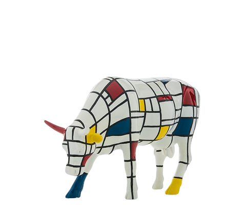 Vache Cow Parade Grand Modèle Moodrian