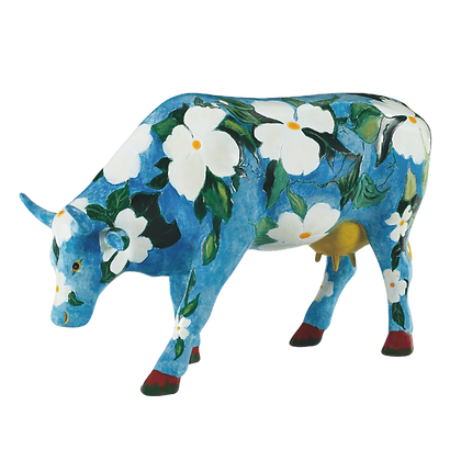 Vache Cow Parade Grand Modèle Cowalina Dogwood