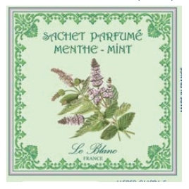 3 Sachets Parfumés Menthe Leblanc-France