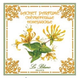 3 Sachets Parfumés Chevrefeuille Leblanc-France