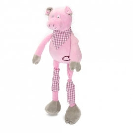 Doudou Pour Enfant Les Petites Marie Modèle Le Cochon (Rillon 45 cm)
