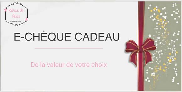 Chèque Cadeau à partir de 10 €
