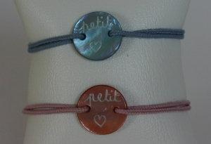 Bracelet Nacre Bébé Petit Coeur