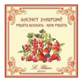 3 Sachets Parfumés Fruits Rouges Leblanc-France