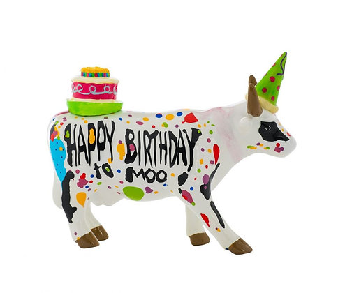 Vache Cow Parade Moyen Modèle Happy Birthday to Moo