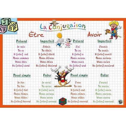 Set de Table Educatif et Sous-Mains La Conjugaison