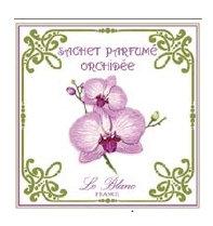 3 Sachets Parfumés Orchidée Leblanc-France