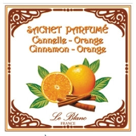 3 Sachets Parfumés Cannelle Orange Leblanc-France
