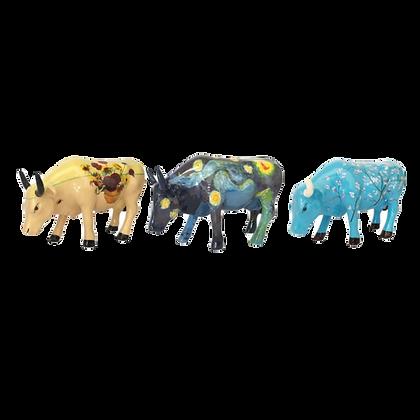 Vache Cow Parade Petit Modèle Artpack - Van Gogh 3 minis Vaches