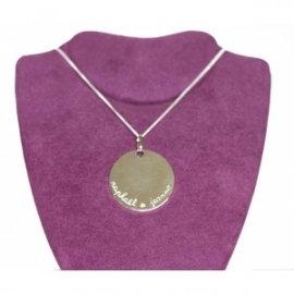 Collier Grand Médaille Argent Personnalisable Création Mon Cadeau Préféré