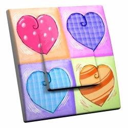 intérrupteur Décoratif Modèle Multi Coeurs
