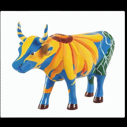 Vache Cow Parade Moyen Modèle Udderly Sunflowers