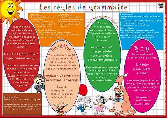 Set de Table Educatif et Sous Mains La Grammaire