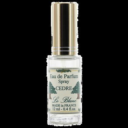 Eau de Parfum Leblanc 12ml Vaporisateur de Sac Cèdre
