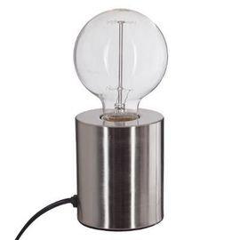 Lampe Métal tube Argent
