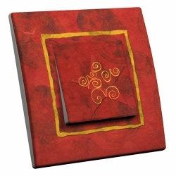 intérrupteur Décoratif Modèle Papier Rouge