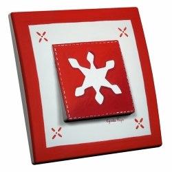 intérrupteur Décoratif Modèle Flocon Rouge
