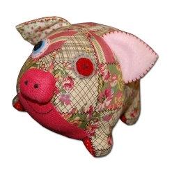 Doudou Patchie Les Petites Marie Modèle Cochon