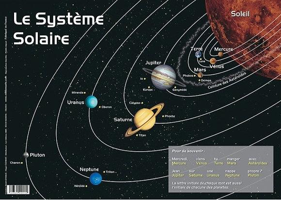 Set de Table Educatif et Sous Mains Les Planètes