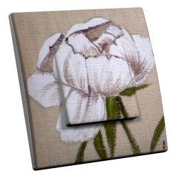 intérrupteur Décoratif Modèle Fleur Blanche
