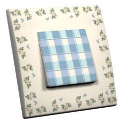 intérrupteur Décoratif Modèle Bleu Rococo