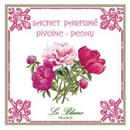 3 Sachets Parfumés Pivoine Leblanc-France
