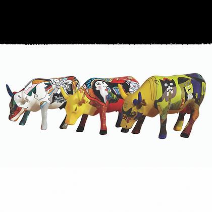 Vache Cow Parade 3 Mini Vaches Picowso