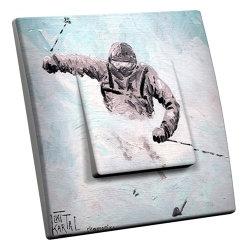 intérrupteur Décoratif Modèle Ski en Poudreuse