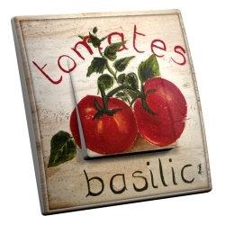 intérrupteur Décoratif Modèle Tomates Basilic