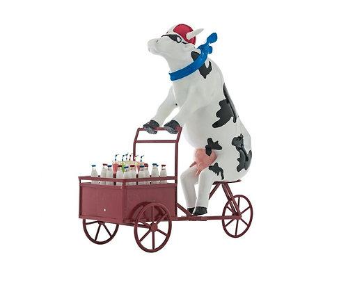 Vache Cow parade Grand Modèle Lait Triporteur