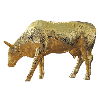 Vache Cow Parade Grand Modèle Mira Moo Gold