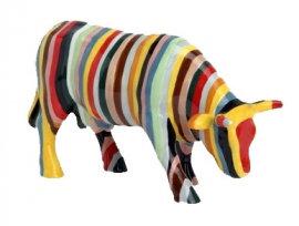 Vache Cow Parade Petit ModËle Striped Cow ExposÈe ‡ . CrÈation de Cary Smith.
