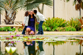 Family pictures at Balboa Park reflecting pond